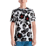 Black Roses All-Over - Men's T-Shirt - KICKI´S SHOP