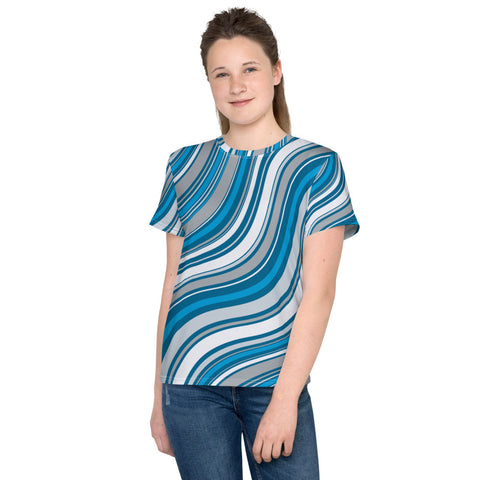 Blue Stripes All-Over - Youth T-Shirt - KICKI´S SHOP