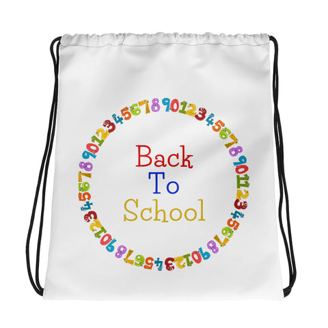 Back To School Figures - Drawstring Bag - KICKI´S SHOP
