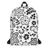 Black Flowers - Designer Backpacks - KICKI´S SHOP