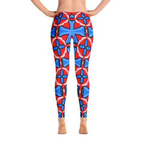 Red And Magic All Over - Women´s Leggings - KICKI´S SHOP