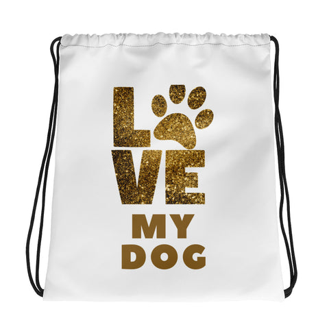 Love My Dog - Drawstring Bag - KICKI´S SHOP