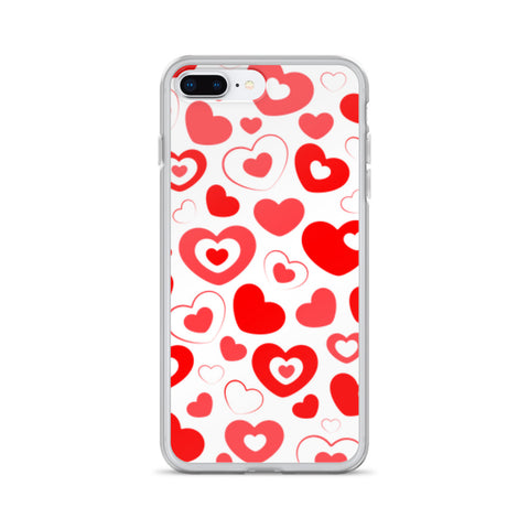 Red Hearts All Over - iPhone Case - KICKI´S SHOP