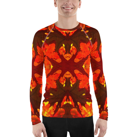Red Leaves All Over - Men's Long Sleeve - KICKI´S SHOP