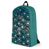 Green And Blue Circles All Over - Backpack - KICKI´S SHOP