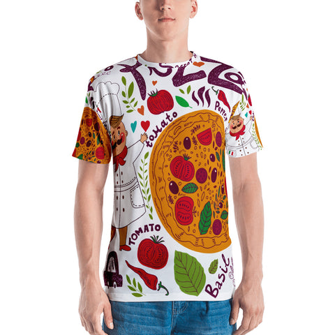 Pizza All Over - Men's T-Shirt - KICKI´S SHOP