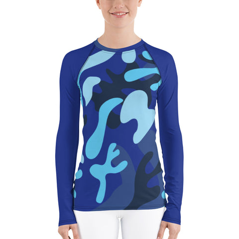 Blue Splash All Over - Women's Long Sleeve - KICKI´S SHOP