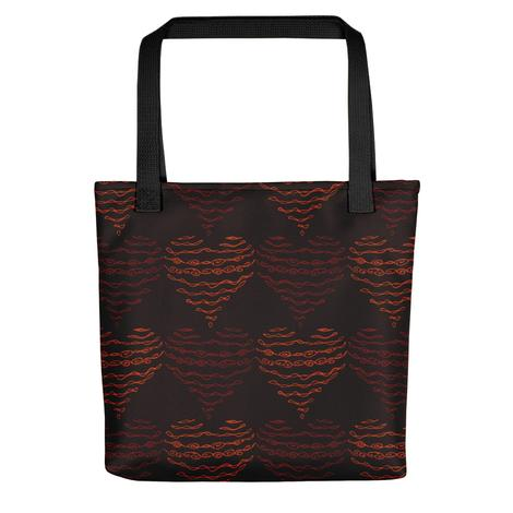 Molly´s Red Hearts All Over - Tote Bag - KICKI´S SHOP