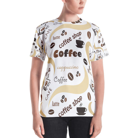 Coffee Shop All Over - Women´s T-Shirt - KICKI´S SHOP