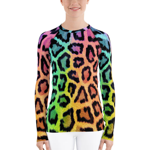 Pink Leopard All Over - Women's Long Sleeve - KICKI´S SHOP