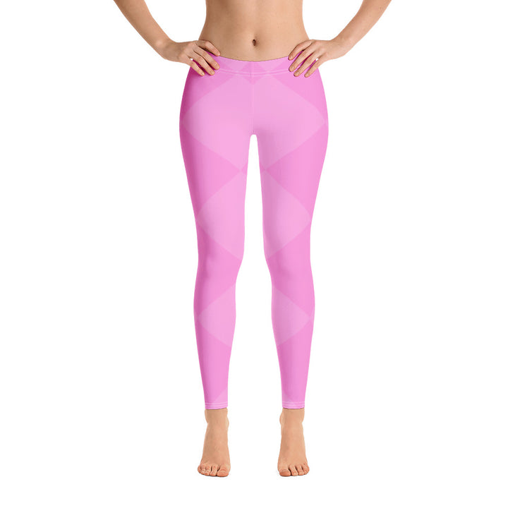 Pink Squares All Over - Women´s Leggings