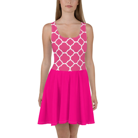 Pink Lady All Over - Women´s Dress - KICKI´S SHOP