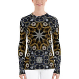 Gold And Silver Stars All Over - Women's Long Sleeve - KICKI´S SHOP