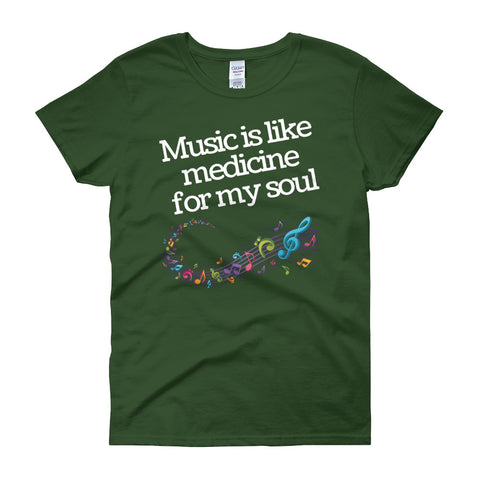 Music Is Like Medicine - Women´s T-Shirt - KICKI´S SHOP