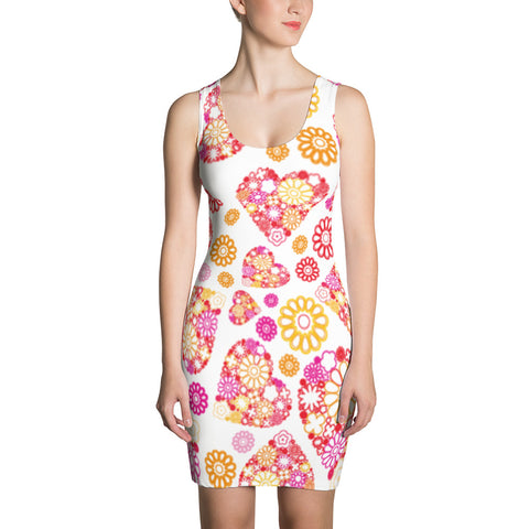 Lovely Hearts All Over - Women´s Dress - KICKI´S SHOP
