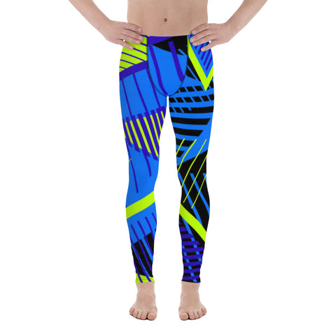 Blue Triangle All Over - Men's Leggings - KICKI´S SHOP