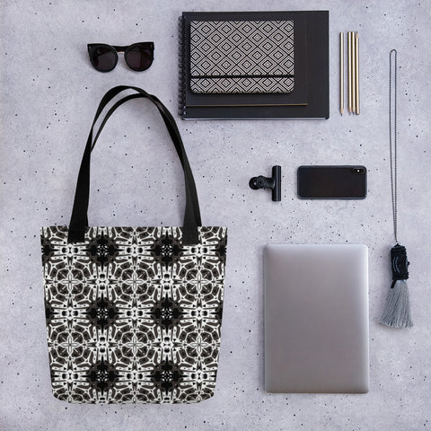 Black Mosaic All Over - Tote Bag - KICKI´S SHOP