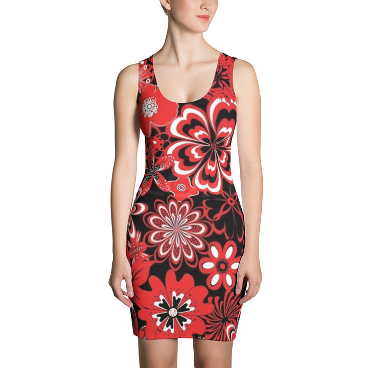 Red Lady Christmas All Over - Women´s Dress
