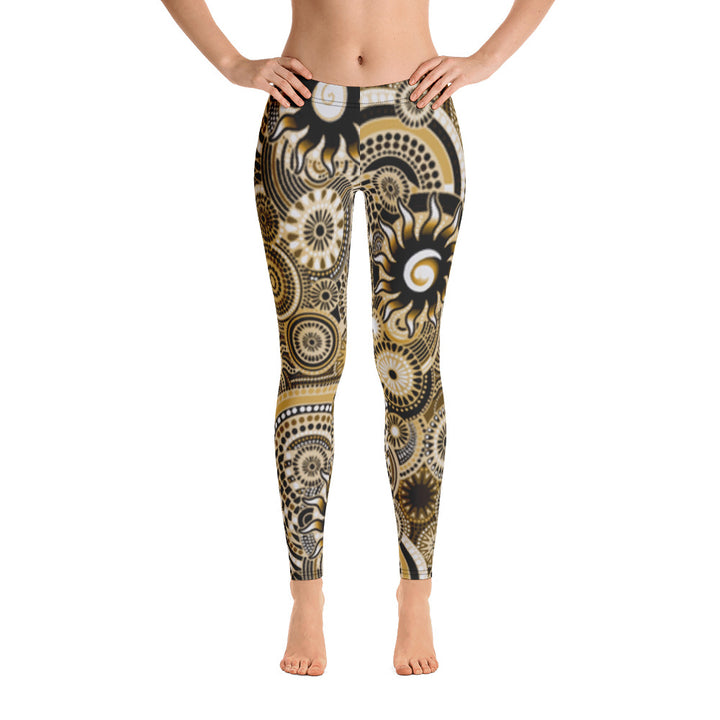 Gold Batik All Over - Women's Leggings