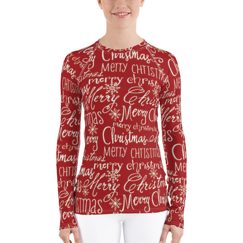 Merry Christmas All Over - Women's Long Sleeve - KICKI´S SHOP