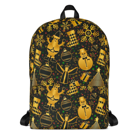 Christmas Gold All Over - Backpack - KICKI´S SHOP