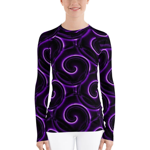 Purple Long Sleeve Shirt - For Women - KICKI´S SHOP