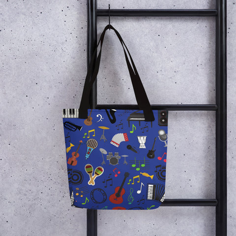 Music Lover All Over - Tote Bag - KICKI´S SHOP