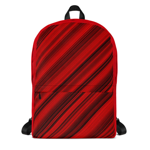 Red Stripes All Over - Backpack - KICKI´S SHOP
