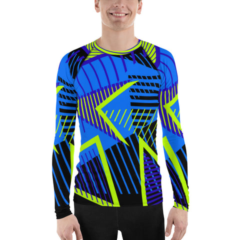 Blue Triangle All Over - Men's Long Sleeve - KICKI´S SHOP