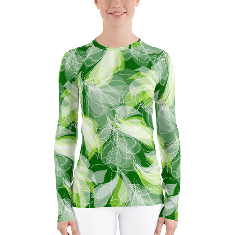 Green Lady All Over - Women's Long Sleeve - KICKI´S SHOP