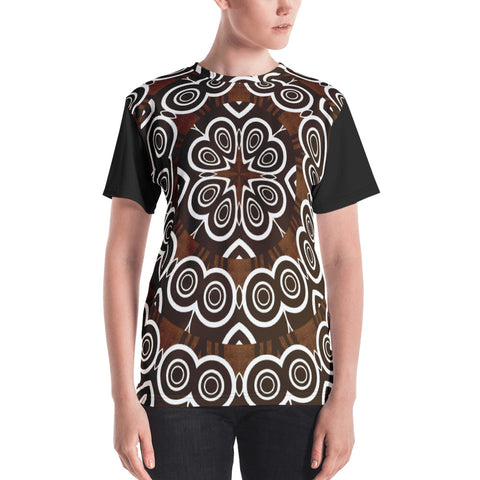 Black And Brown Mandala - Women's T-Shirt - KICKI´S SHOP
