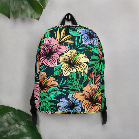 Hibiscus - Mini Backpack For Travel - KICKI´S SHOP
