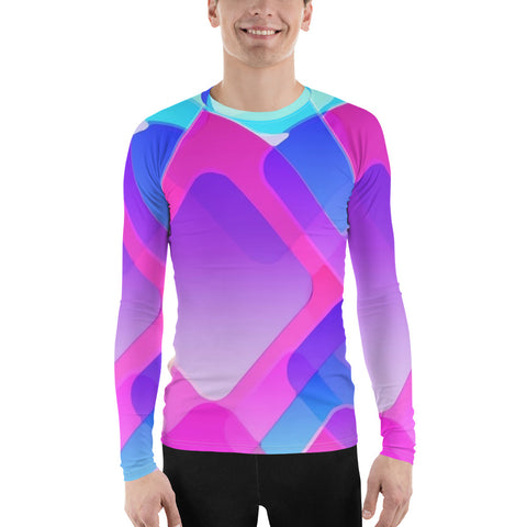 Colored Squares All Over - Men´s Long Sleeve - KICKI´S SHOP