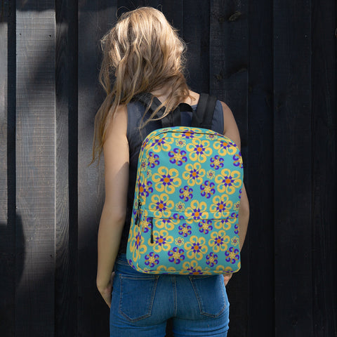 Yellow And Blue All Over - Backpack - KICKI´S SHOP