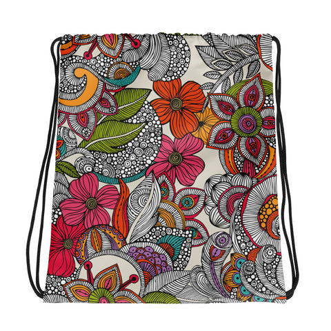 Flowers All Over - Drawstring Bag - KICKI´S SHOP