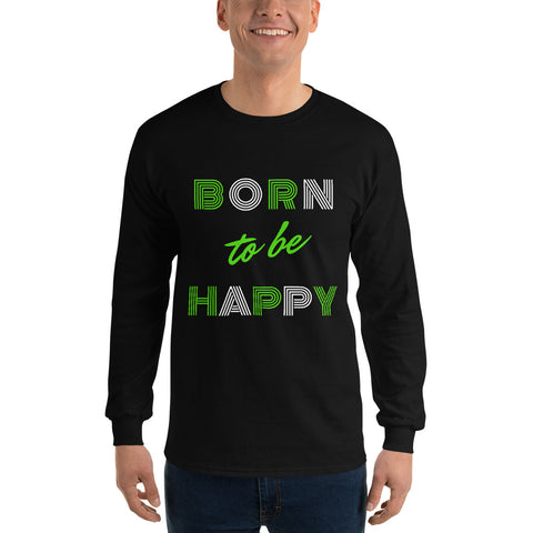 Born To Be Happy - Men´s Long Sleeve - KICKI´S SHOP