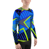 Blue Triangle All-Over - Men's Long Sleeve - KICKI´S SHOP