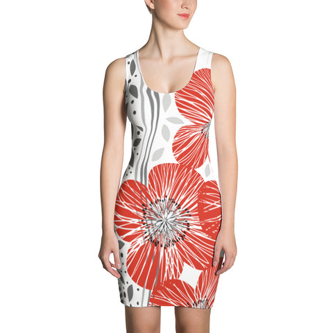 Olivia Red All-Over - Women´s Dress - KICKI´S SHOP