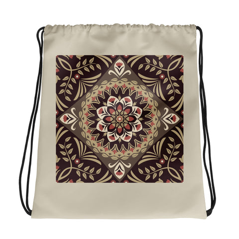 Brown Mandala - Drawstring Bag - KICKI´S SHOP
