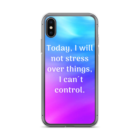 Not Stress Over Things I Can´t Control - iPhone Case - KICKI´S SHOP