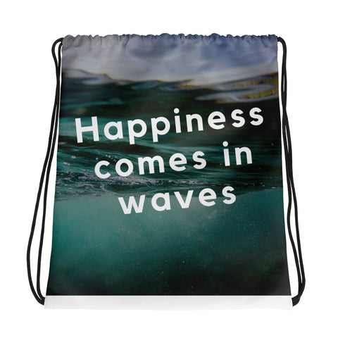 Happiness Comes In Waves - Drawstring Bag - KICKI´S SHOP