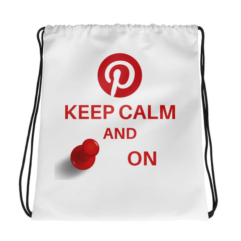 Keep Calm And Pin On - Drawstring Bag - KICKI´S SHOP