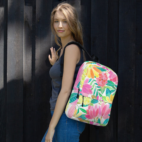 Summer Flowers All Over - Backpack - KICKI´S SHOP