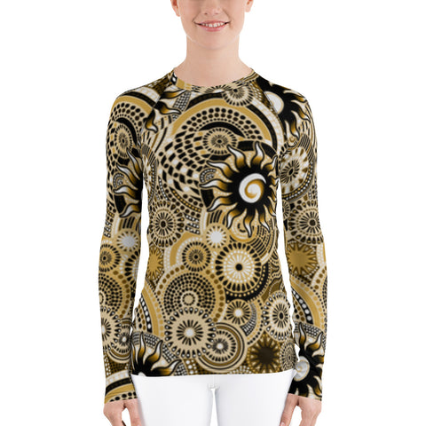Gold Batik All Over - Women's Long Sleeve - KICKI´S SHOP