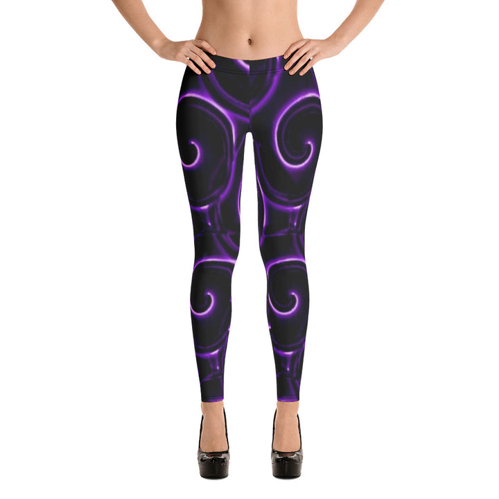 Annie Purple All Over - Women´s Leggings