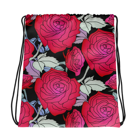 Lovely Roses - Drawstring Bag - KICKI´S SHOP