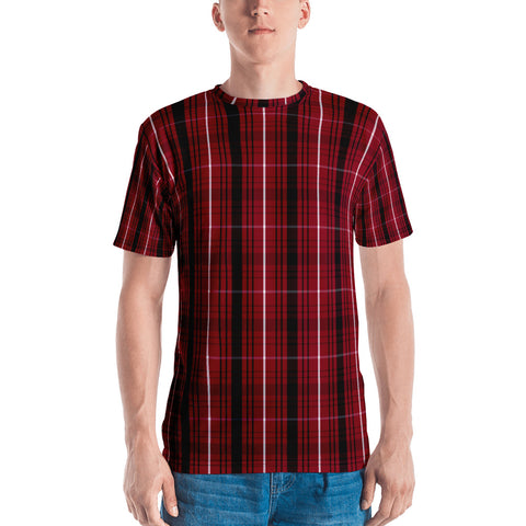 Red And Black Squares All Over - Men's T-Shirt - KICKI´S SHOP