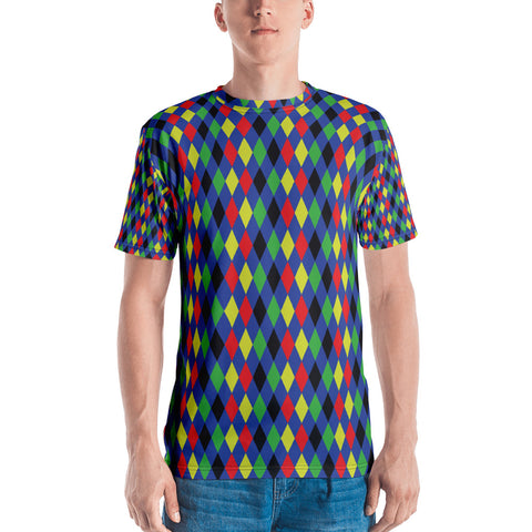 Colored Diamonds All Over - Men's T-Shirt - KICKI´S SHOP