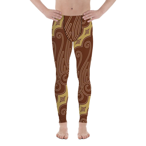 Brown Fantasy All Over - Men's Leggings - KICKI´S SHOP