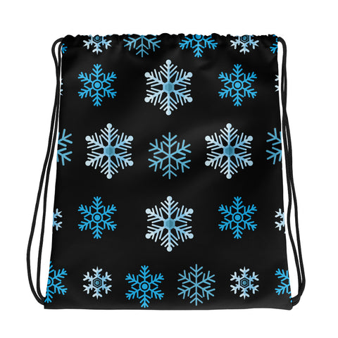 Snowflakes All Over - Drawstring Bag - KICKI´S SHOP